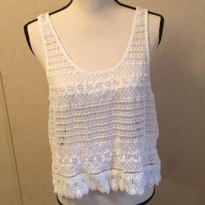Ariat Lace Top White Sz L